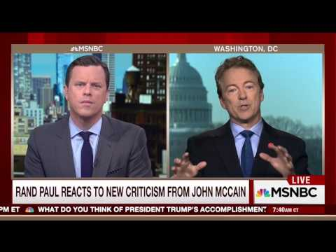 Rand Paul Calls John McCain Unhinged And Past His Prime