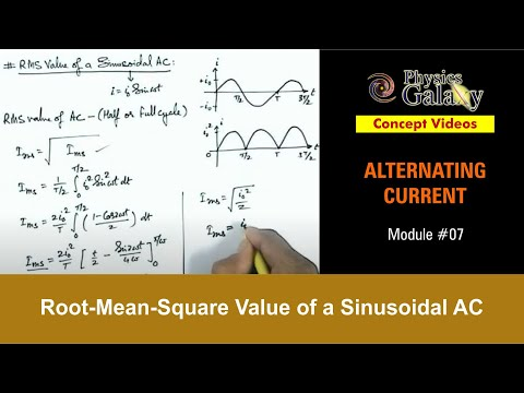7. Class 12 Physics   Alternating Current   Root-Mean-Square Value of a Sinusoidal AC