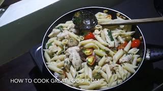Garlic Butter Chicken Pasta Recipe - Cholesterol Overdose