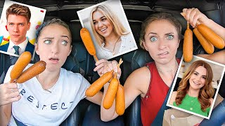 YouTubers & Celebrities Pick Our DRIVE-THRU Orders! | Collins Key, Sadie, Ro Pansino, & MORE!