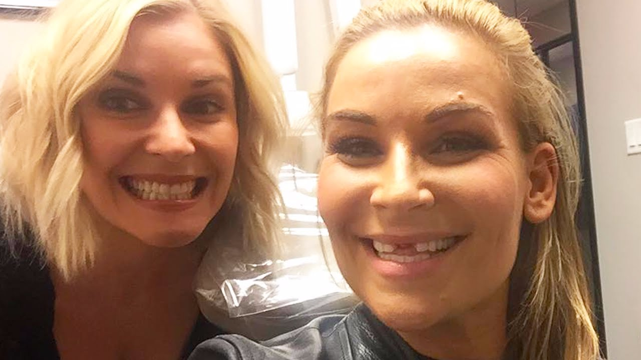Natalya Gets Her Teeth Knocked Out Youtube