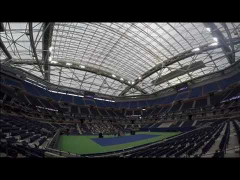 Arthur Ashe Stadium For The U.S. Open, The U.S. Tennis Association Unveils A New, Retractable Roof