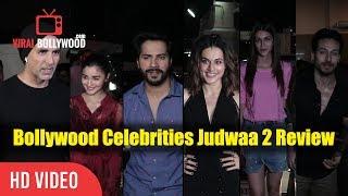 Top bollywood celebrities review on judwaa 2   judwaa 2 special screening   viralbollywood