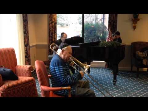 World's Oldest Trombone Player Plays Classic Yiddish Song