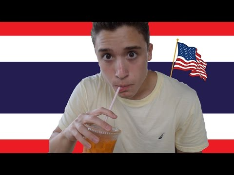 AMERICAN TRIES THAI FOOD FOR THE FIRST TIME!!