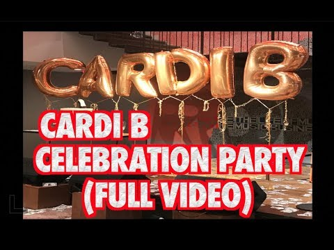 CARDI B CELEBRATION PARTY FOR MAKING HISTORY