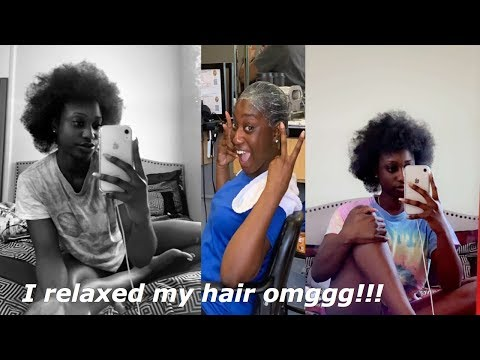 I RELAXED MY 4C NATURAL HAIR!!!