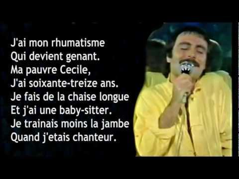Michel Delpech : Quand j'étais chanteur + Lyrics