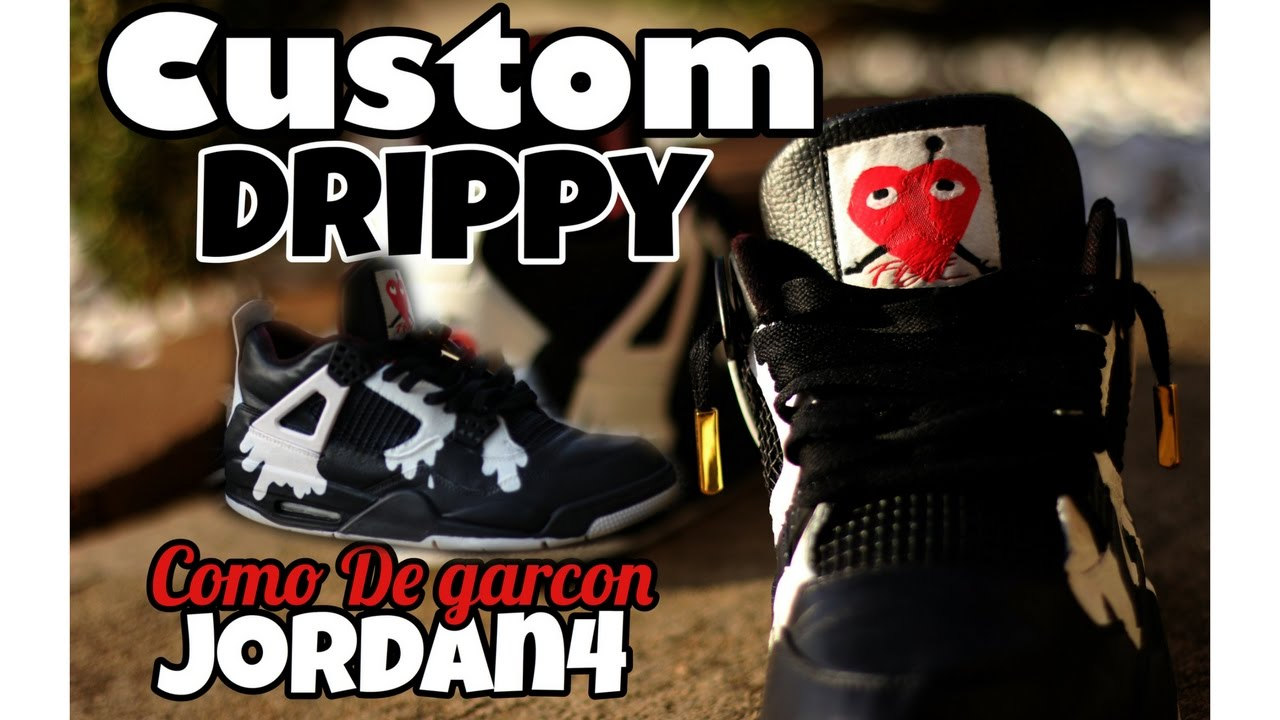 brand new 08681 5a65b Custom jordan 4   Comme Des Garcons   Drippy   Time-lapse