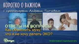 Как объяснить мужу, что я не хочу делать ЭКО? Протоиерей Андрей Ткачев