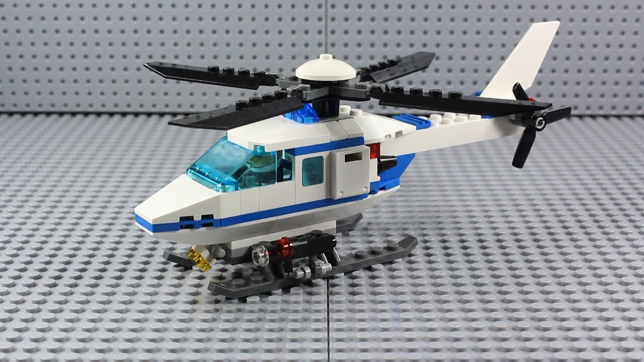 lego set review city police helicopter 7741 from 2008