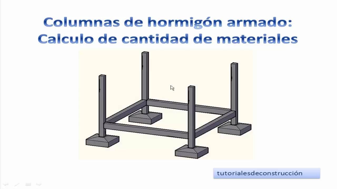4 c lculo de materiales de construcci n para columnas de for Cuanto sale hacer una pileta de cemento