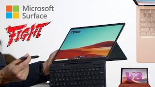 Microsoft Surface Pro X vs Surface Pro 7 vs Surface Laptop 3 Hands On