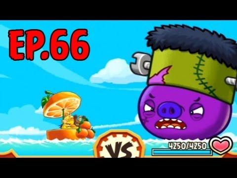 Angry Birds Fight! - SUPER FRANKENSTEIN PIG - RARE HALLOWEEN HOUSE (STELLA) - EP66