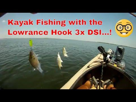 Kayak Fishing with the Lowrance Hook 3x DSI #kayakfishing