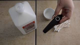 How to clean your crystal pipe