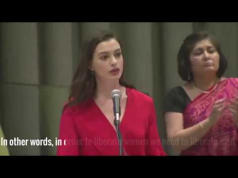 Slice of Life: Anne Hathaway's Speech at the UN on International Women's Day