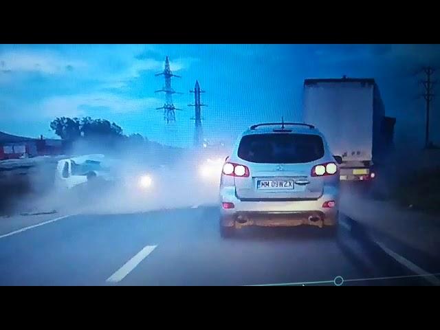 Alba24 Video: Momentul impactului - accident mortal soseaua de centura Alba Iulia 17 aug 2017