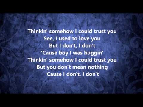Mariah Carey - I Don't - Lyrics