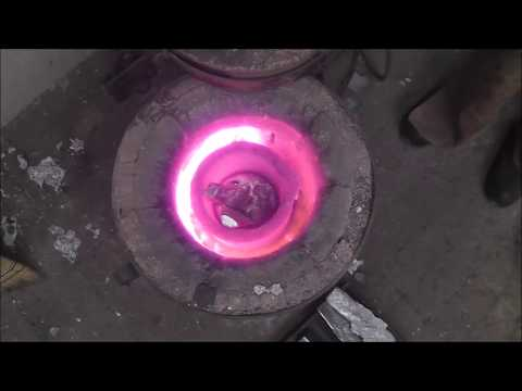 Melting and pouring metal to make a casting