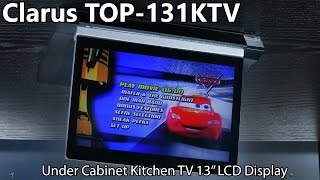 Clarus TOP-131KTV Under Cabinet Kitchen TV - 13 LCD Display