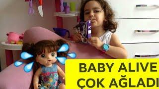 Baby Alive Süt İstedi, Ecem Baby Alive İle Paylaşmadı, Baby Alive Çok AĞLADI. Funny kids video