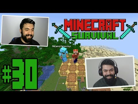 Minecraft : SURVIVAL | SEZON FİNALİ ! (ÇİFT FACECAM)| #30