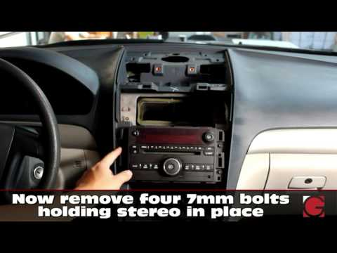 GM Saturn Outlook 2007-2010 GROM USB Android iPhone Bluetooth Car Kit install, stereo removal