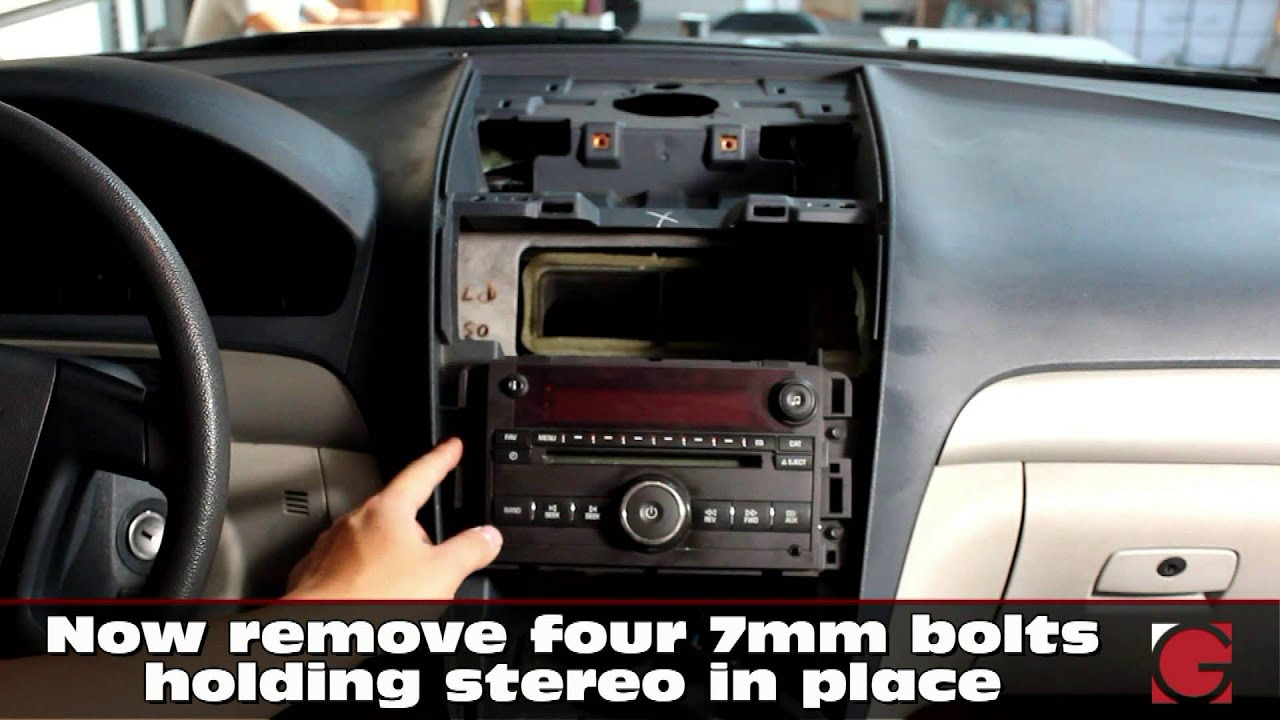 gm saturn outlook 2007 2010 grom usb android iphone bluetooth car kit install stereo removal [ 1280 x 720 Pixel ]