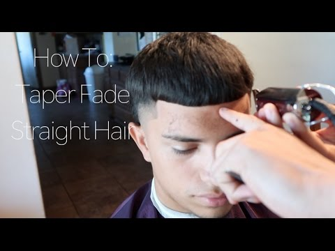 How To Taper Fade W Straight Hair Haircut Tutorial