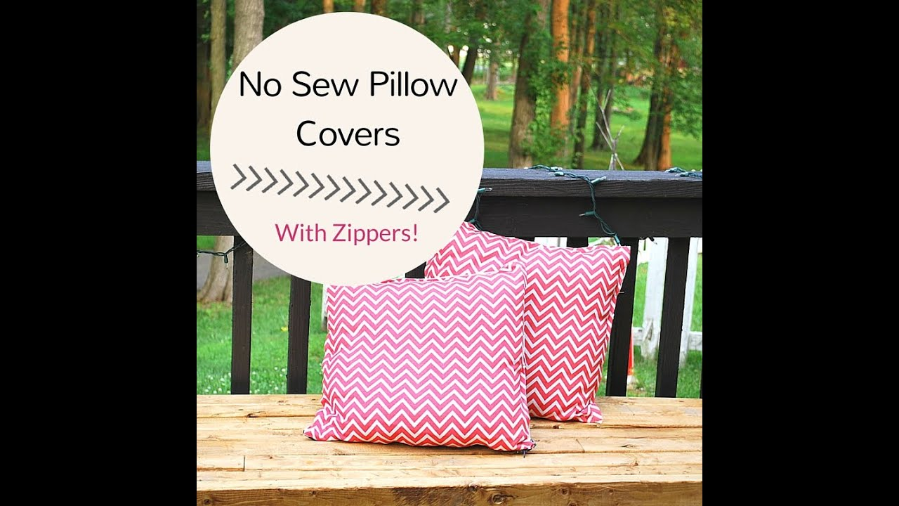 & How to Make a No Sew Pillow Cover with Zipper - YouTube pillowsntoast.com