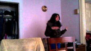 A guyanese lady dancing to indian music