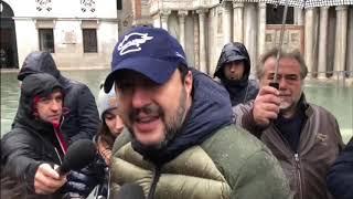 """Salvini: """"Serve un miliardo per Venezia"""" (15.11.19)"""