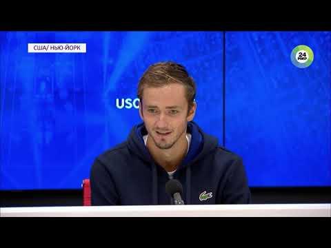 Российский теннисист Даниил Медведев провоцирует толпу