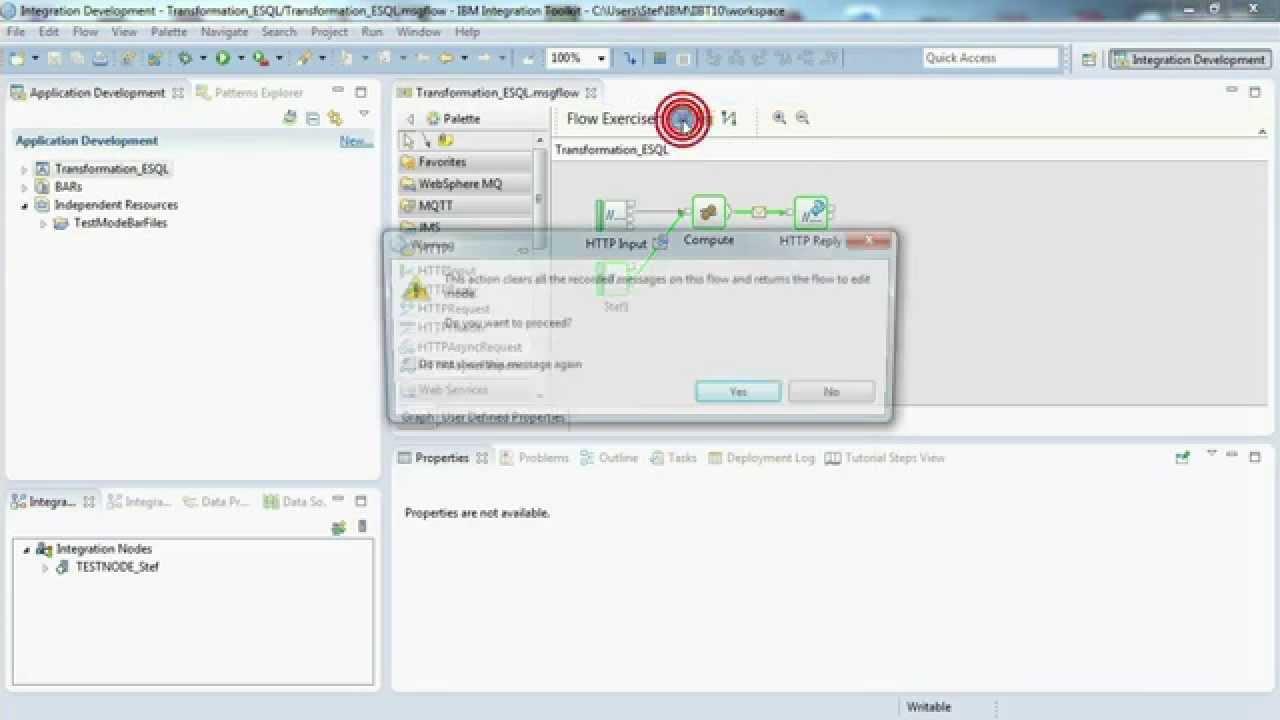IBM Integration Bus Tutorial 03: Transformation using ESQL in a message flow
