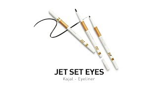 MyGlamm Product Tutorial l Jet Set Eyes - Kajal - Eyeliner