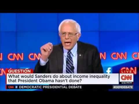 Bernie Sanders (13/28) INCOME INEQUALITY Democratic Presidential Debate 2016 by CNN 10 13 2015