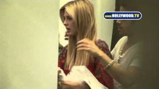 Mischa Barton Gets Hair Did at Warren Tricomi Salon