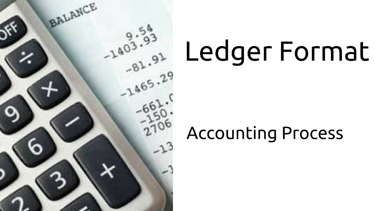 Learn Ledger Format Journal Ledger CA CPT CS CMA