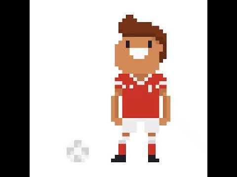 Pixel Art Dun Footballeur Youtube
