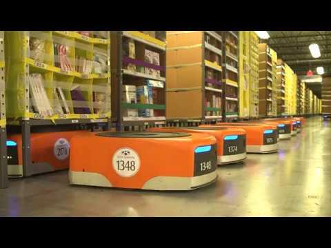 Amazon Warehouse Order Picking Robots