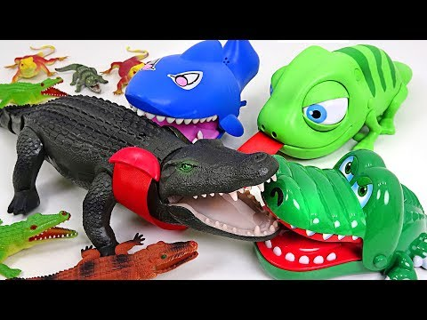 Thumbnail: Super giant Crocodile appeared!! Crocodile! Defeat the enemy with Chameleon and Shark!! - DuDuPopTOY