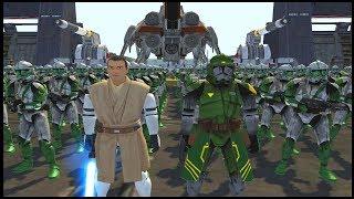 Brutal Republic Base Under Siege! - Men of War: Star Wars Mod Battle Simulator
