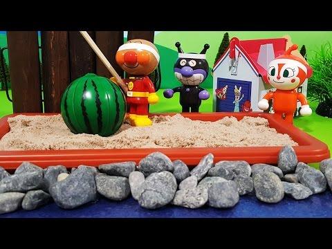 anpanman-toy-anime❤swimming-in-a-watermelon!-the-toy-kids-toy-kids-animation-anpanman
