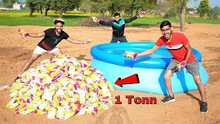 "Making ""Impossible to Sink Pool"" With 1000 Kg Salt 