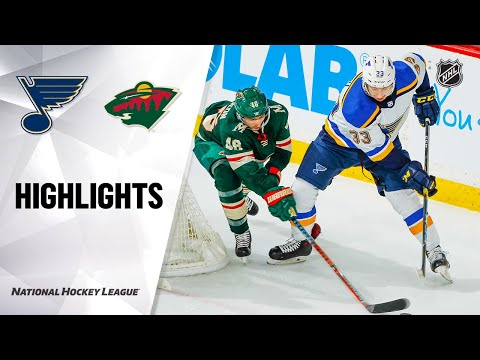NHL Highlights | Blues @ Wild 02/23/20