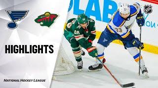 NHL Highlights | Blues @ Wild 02/23/20