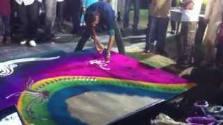 One of the best Rangoli in 11 minutes