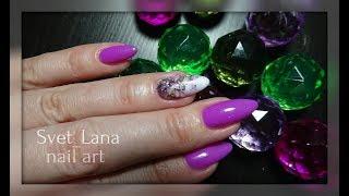 Слайдер дизайн. Как нарастить ногти на формы. Маникюр себе. Дизайн ногтей #Svetlana_nailart