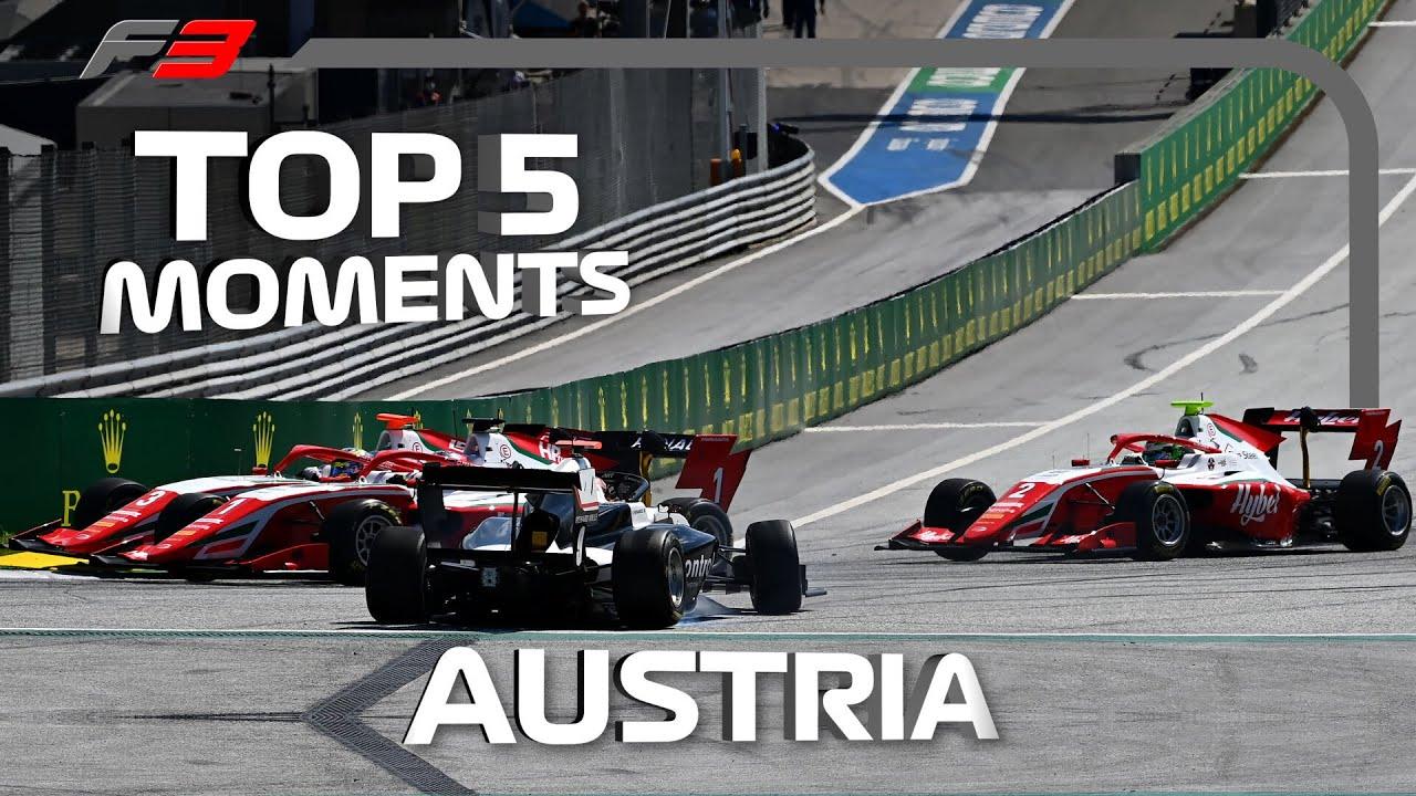 Top 5 Formula 3 Moments | 2020 Austrian Grand Prix